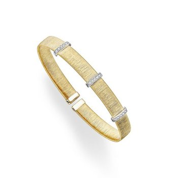 Italian Silk Cuff Bracelet With Diamonds