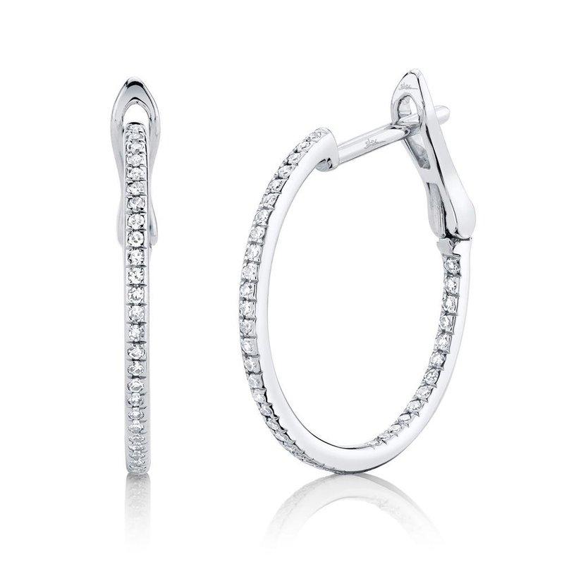 Lasker Diamond Fashion 20MM Diamond Hoop Earrings