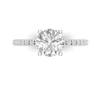 Hidden Halo Diamond Ring Setting