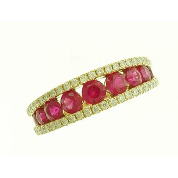 Ruby and Diamond Anniversary Ring