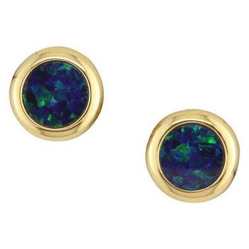 Opal Doublet Studs