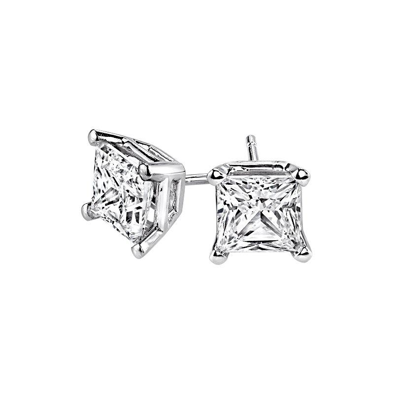 Lasker Diamond Fashion Princess-Cut Stud Earrings - 3/4cttw