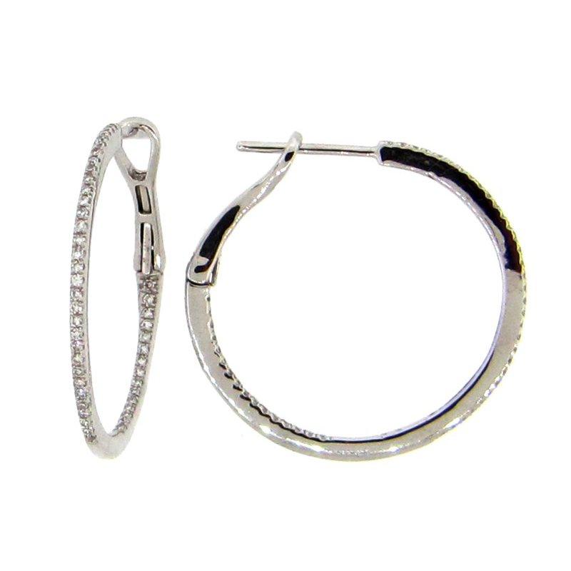 Lasker Diamond Fashion Inside-Out Diamond Hoop Earrings