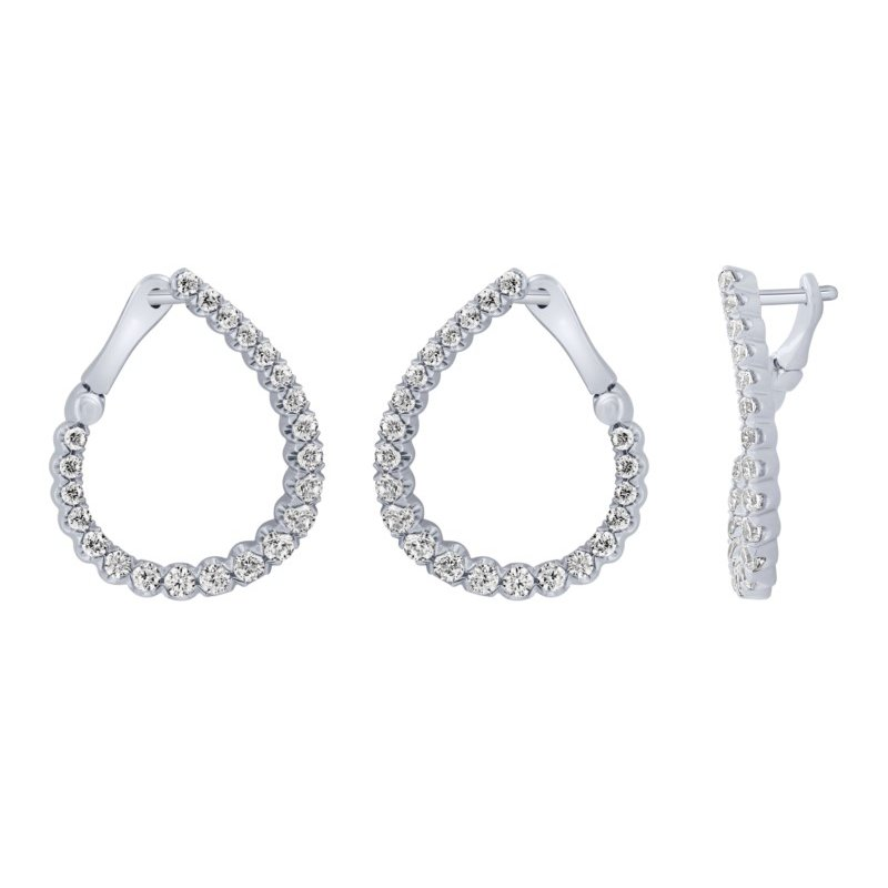 Lasker Diamond Fashion Front-to-Back Hoops - 1cttw