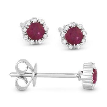 Center Of My World Ruby Earrings