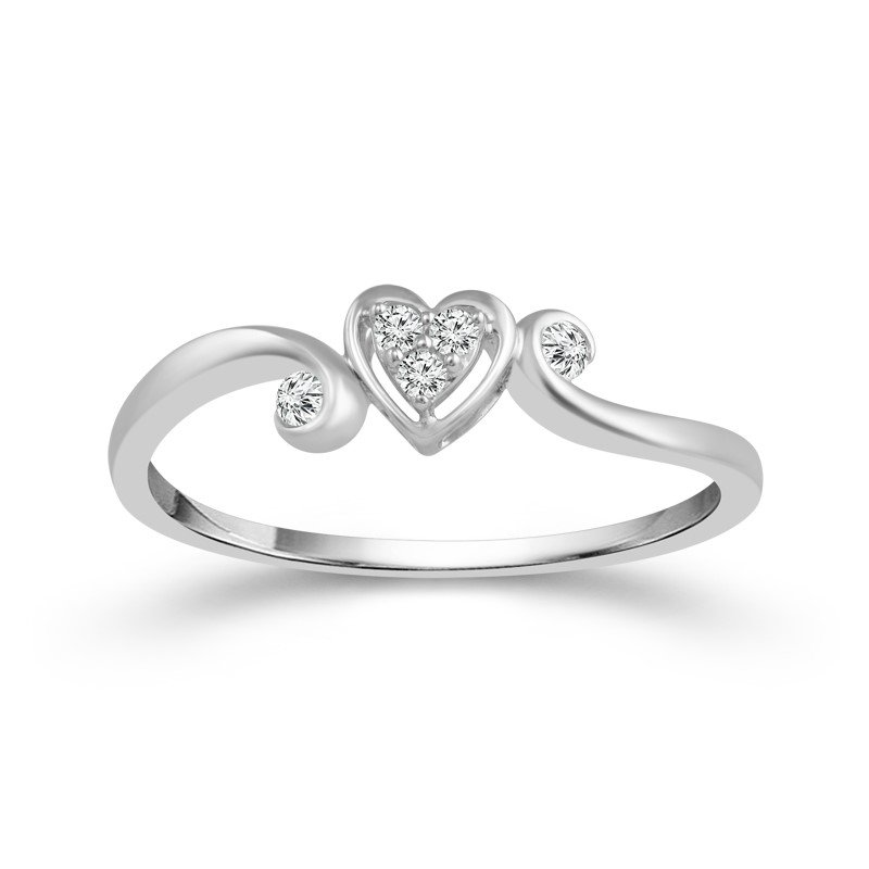 Lasker Diamond Fashion HEART PROMISE RING