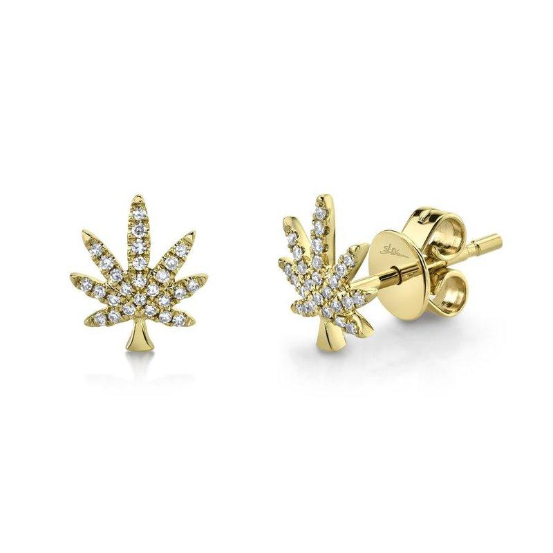 Lasker Diamond Fashion Diamond Leaf Earrings