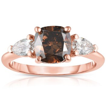 Cognac 3-Stone Ring