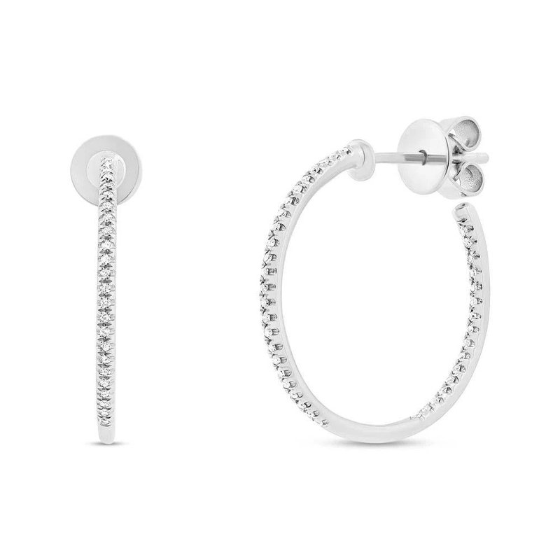 Lasker Diamond Fashion Open-Hoop Diamond Earrings