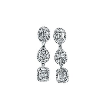 Glamour Dangle Earrings - 1cttw