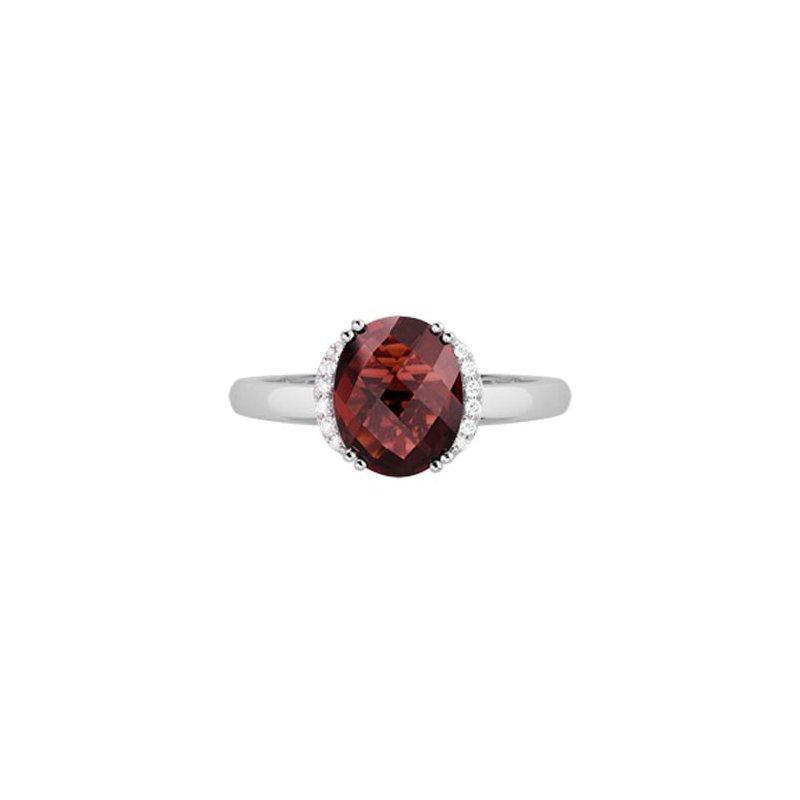 Lasker Gemstone Red Garnet Ring