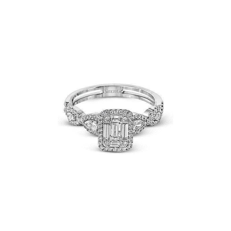 Simon G Vintage Diamond Cluster Engagement Ring