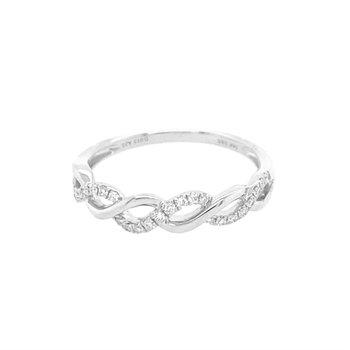Stackable Infinity Diamond Wedding Bands