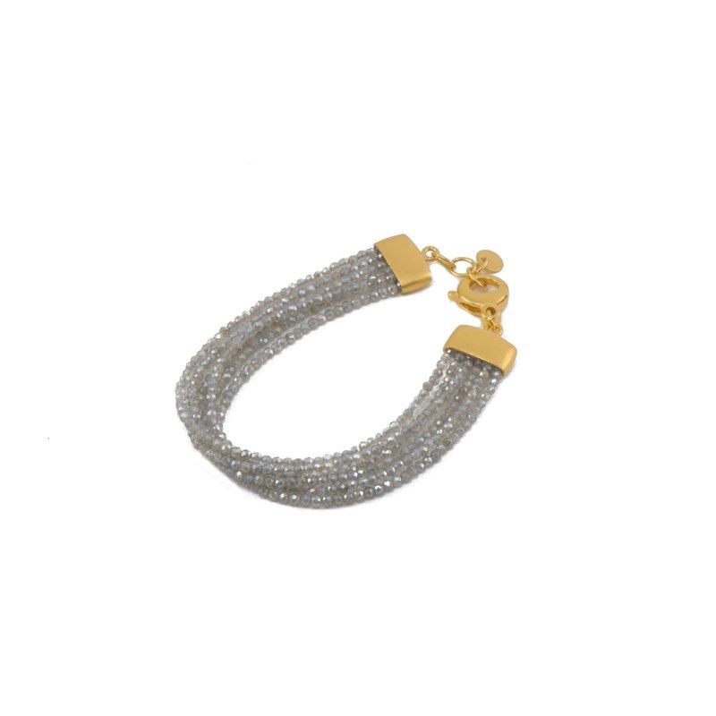 Lasker Gemstone JOYLA - Labradorite Bead Bracelet