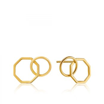 2-Shape Stud Earrings
