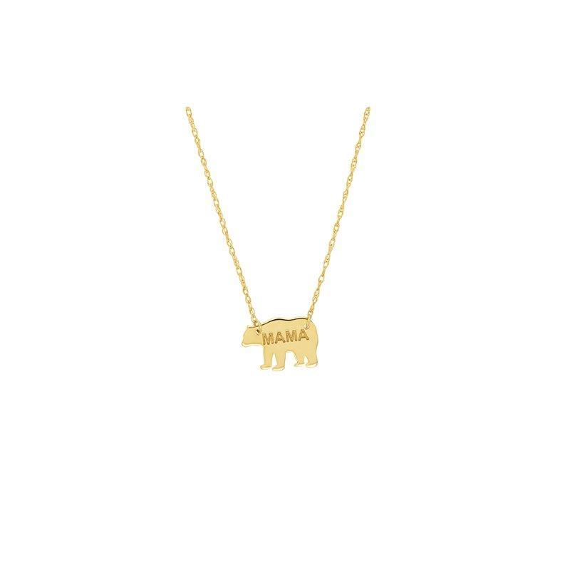 Lasker Gold Fashion Mama Bear Necklace