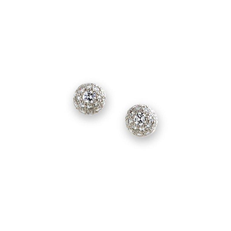 Suna Diamond Pave Button Studs