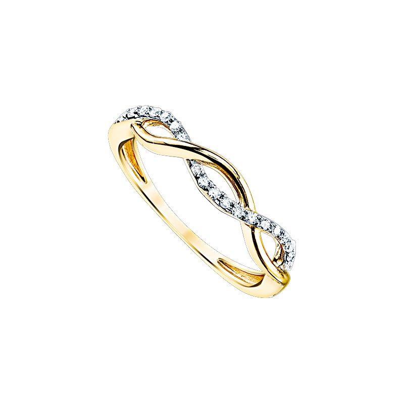 Lasker Bridal Infinity Weave Ring - Yellow Gold