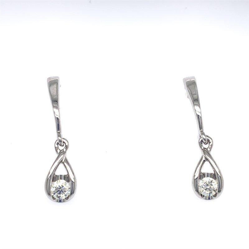 Lasker Diamond Fashion Raindrop Diamond Earrings