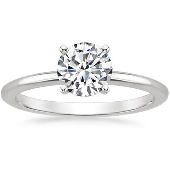 Solitaire Engagement Ring with Round Diamond
