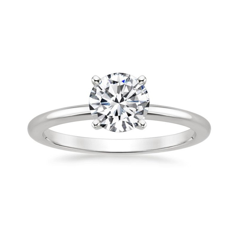 Lasker Bridal Solitaire Engagement Ring with Round Diamond