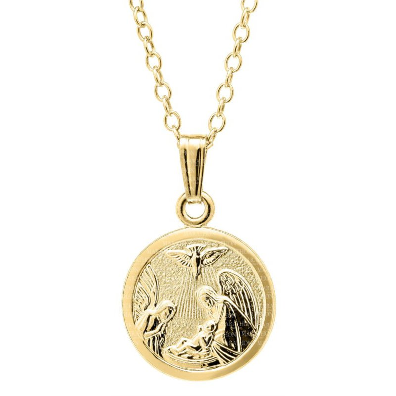Lasker Signature Gold Filled Baby Guardian Angel Pendant