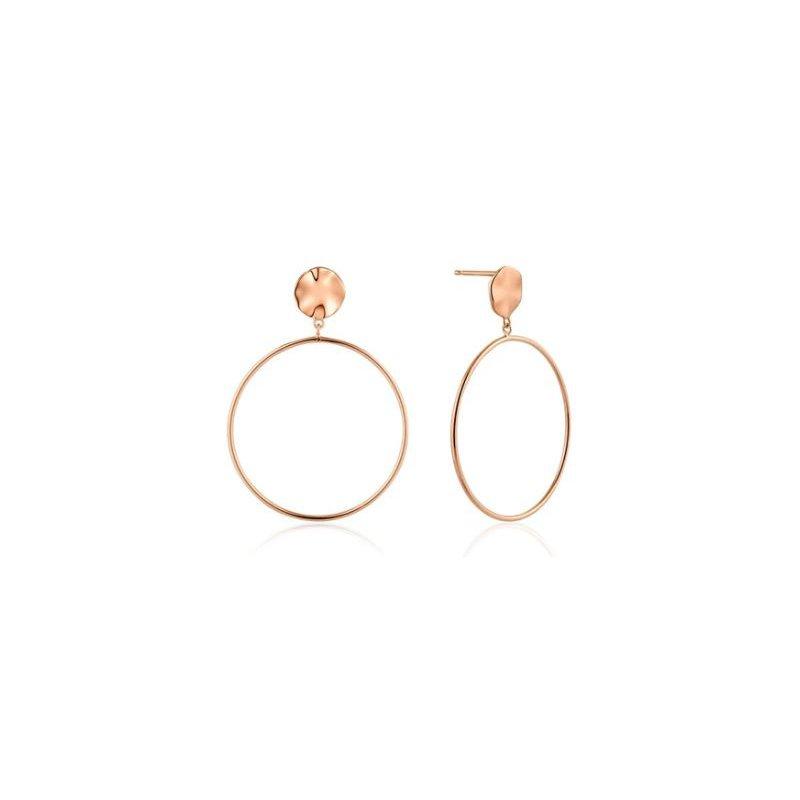 Ania Haie Ripple Front Hoop Earrings