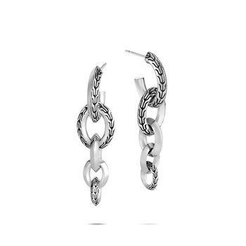 Classic Chain Knife Edge Drop Earring