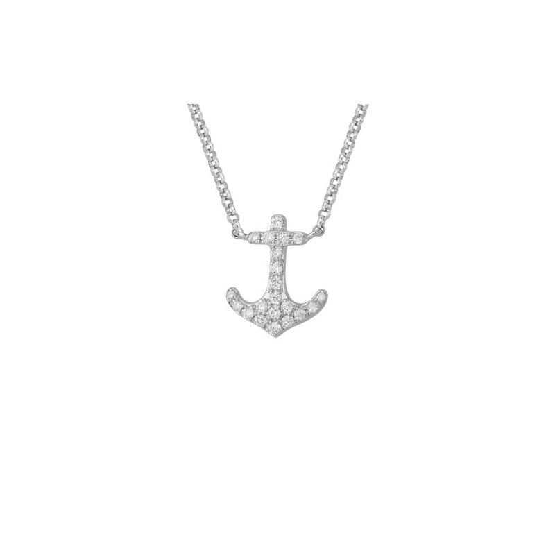Lasker Diamond Fashion Diamond Anchor Necklace