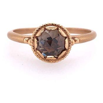 Megan Thorne Cherie Ring - Mogal-Cut Chocolate Diamond