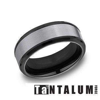 8mm Tantalum & Black Titanium Band