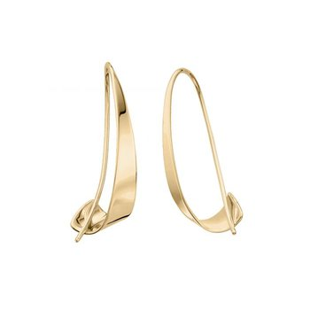 E.L. Designs 14kt Gold Medium Windswept Earrings