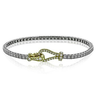 Two Tone Diamond Tennis Bracelet