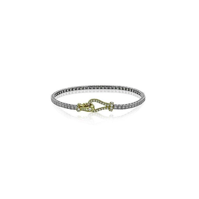 Simon G Two Tone Diamond Tennis Bracelet