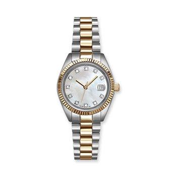 Lasker Steel & Gold-Toned Timepiece - Diamond Dial