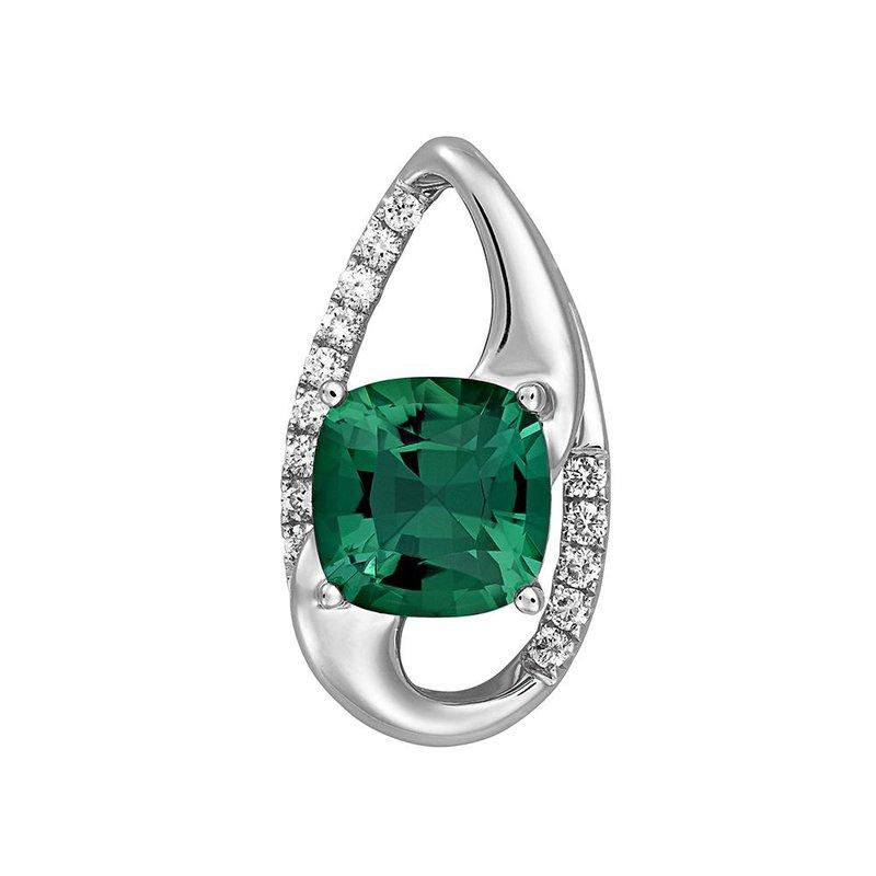 Lasker Gemstone Chatham Emerald Pendant