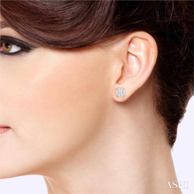 Lasker Diamond Fashion Lovebright Diamond Stud Earrings - 1.50CTTW