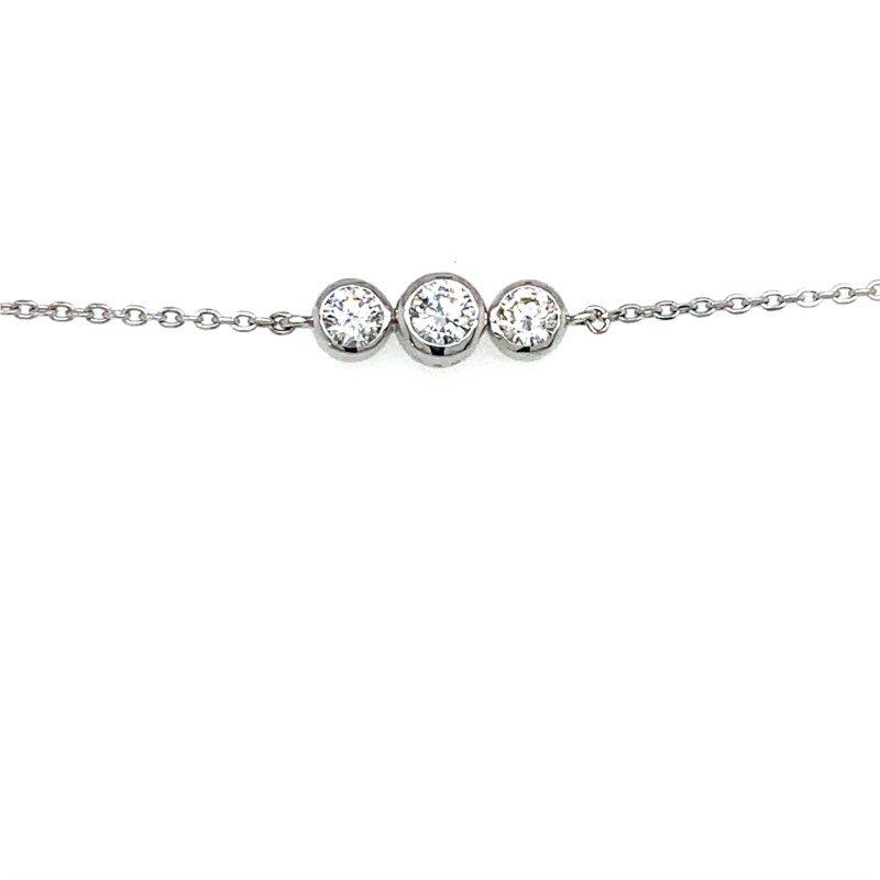 Lasker Diamond Fashion Three Diamond Bracelet