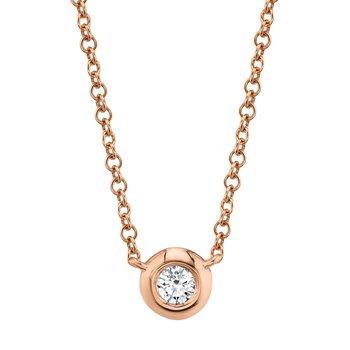 Bezel Set Diamond One and Only Pendant