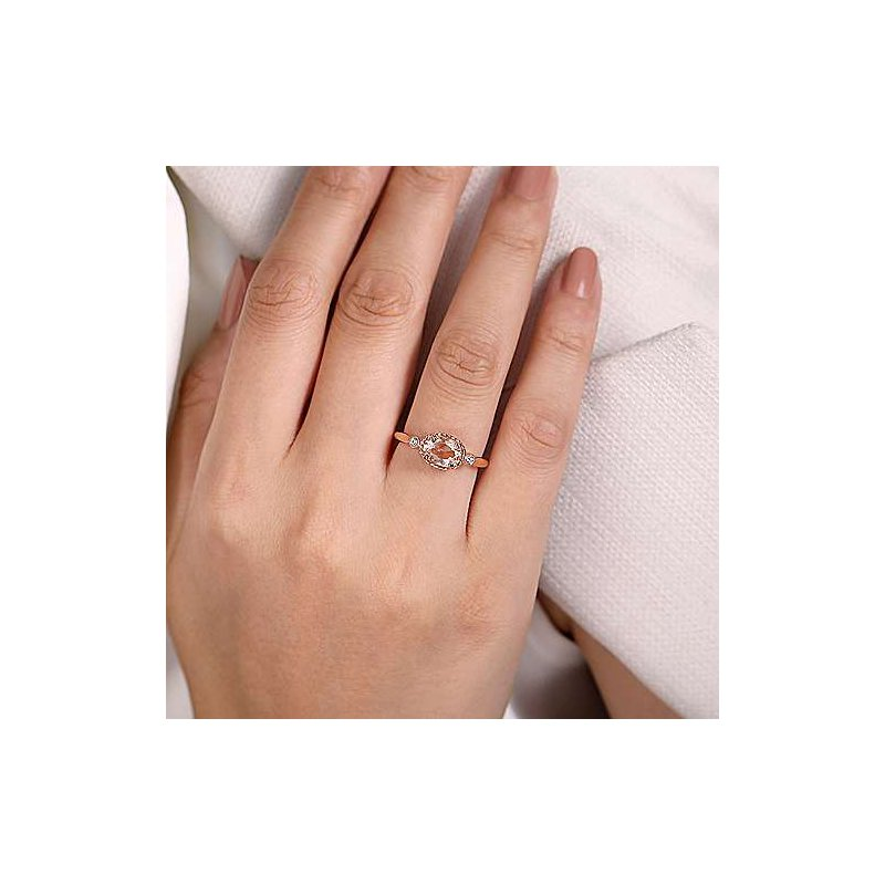 Gabriel Fashion Horizontal Oval Morganite Ring