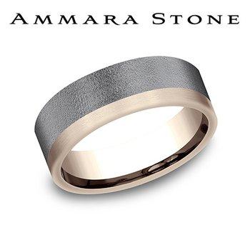 Amara Stone -14KT Rose Gold & Tantalum