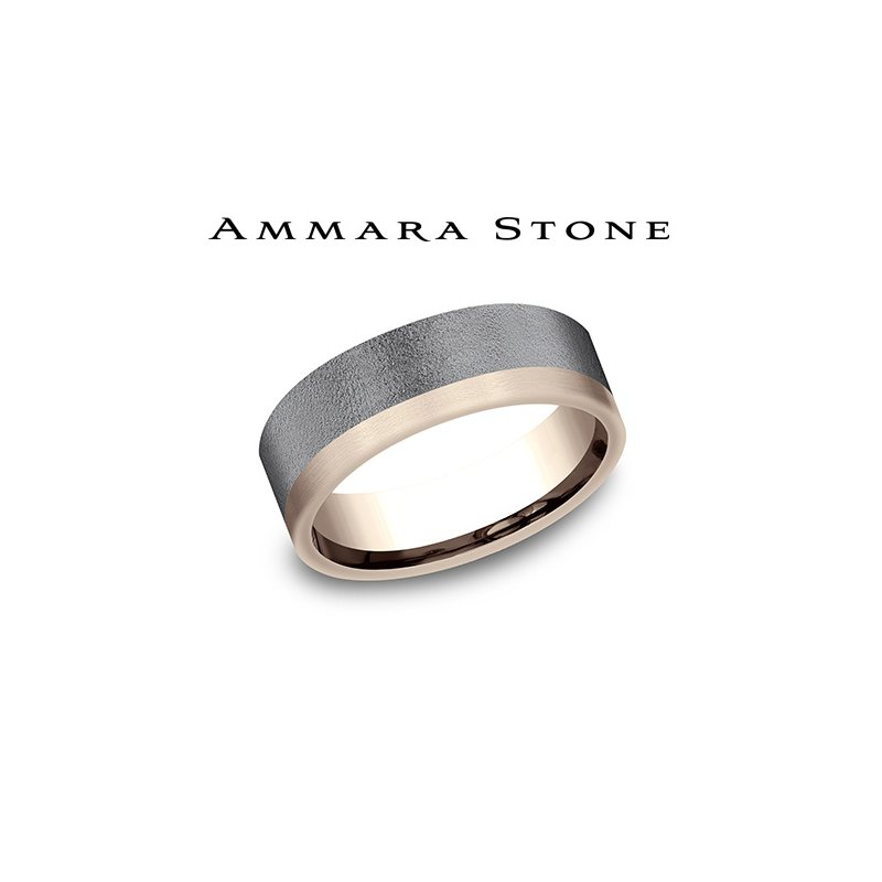 Lasker Men's Amara Stone -14KT Rose Gold & Tantalum