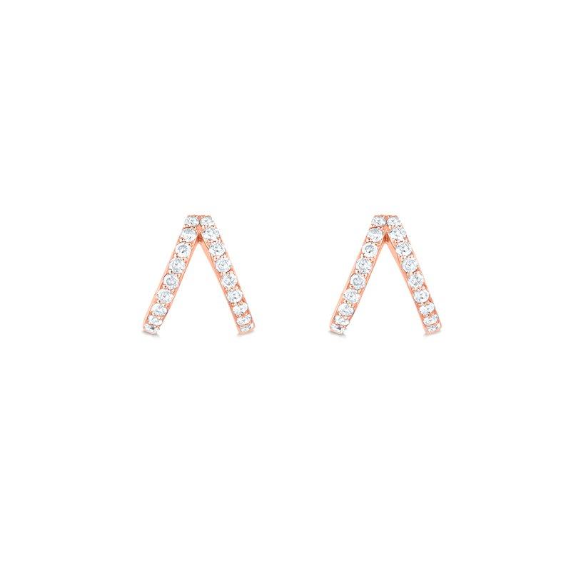 Lasker Diamond Fashion Split Diamond Huggie Earrings