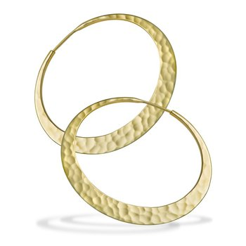 Hammered EcoGold 38MM Eclipse Hoops