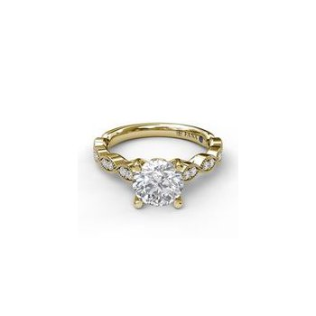 Yellow Gold Scalloped Ring Mounting