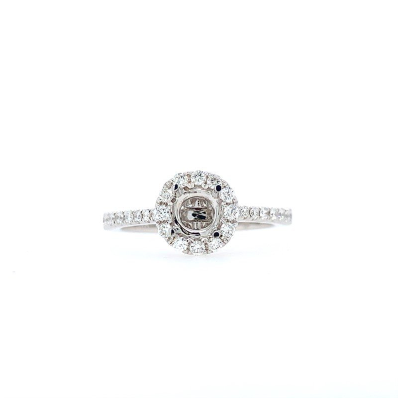 Lasker Bridal Classic Round Halo Ring Mounting