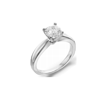 3mm Tapered Solitaire Ring - 1.01ct Round Diamond