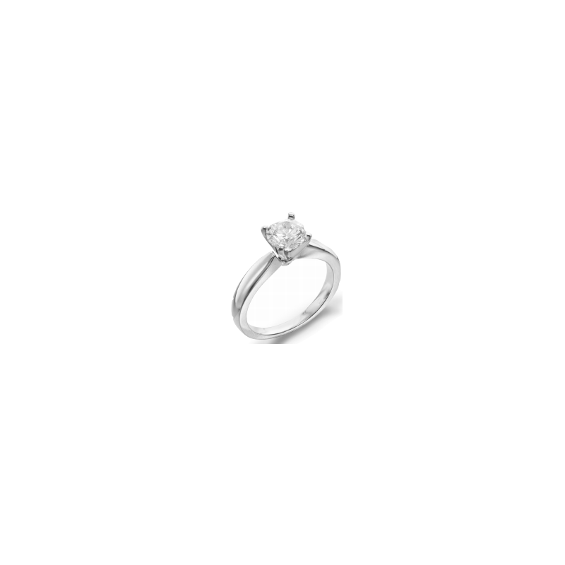 Lasker Bridal 3mm Tapered Solitaire Ring - 1.01ct Round Diamond
