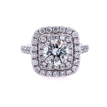 Stunning Celeste Double Halo Ring - 1.03ct Center Diamond