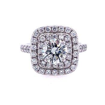 Stunning Celeste Double Halo Ring - 1.03ct Center Diamond